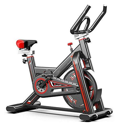 KirinSport Heimtrainer Fahrrad Fitnessbikes Ergometer mit Schutzhülle Pulsmesser stufenlose Widerstandseinstellung großes Trägheitsschwungrad Benutzergewicht bis 150kg LCD