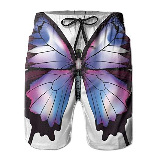 Men's Sports Beach Shorts Board Shorts,Vivid Animal Figure Magical Nature Fragile Creature,Surfing Swimming Trunks Bathing Suits Swimwear,XL