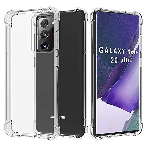 Migeec Hülle für Samsung Galaxy Note 20 Ultra Transparent [Stoßfest] Weiche Silikon [Kratzfest] Flex TPU Bumper handyhülle Durchsichtige Schutzhülle