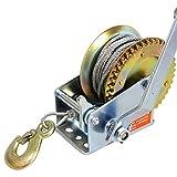 iimono117 ワイヤー式 ハンドウインチ 耐荷重 500kg / 荷積作業 バイク ハンドウインチ 手動ウィンチ