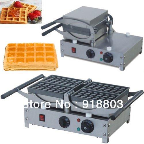 180 Degree Turntable 220v Electric Brussels Swing Belgian Waffle Maker Machine Baker