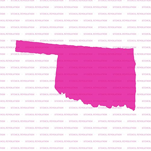 Oklahoma State Stencil Template - Reusable Stencil with Multiple Sizes Available