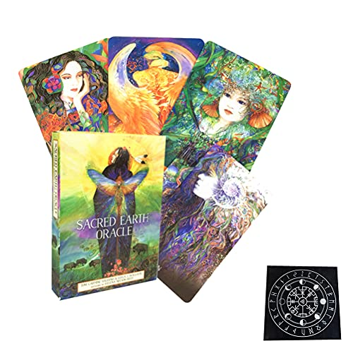 Sacred Earth Oracle Carte Carte Tarot Carta di Divinazione Divination Fate Entertainment Table Board Games Vacanze Famiglia Famiglia Partito Gift Playing Carte,Type 3,Tarot Card