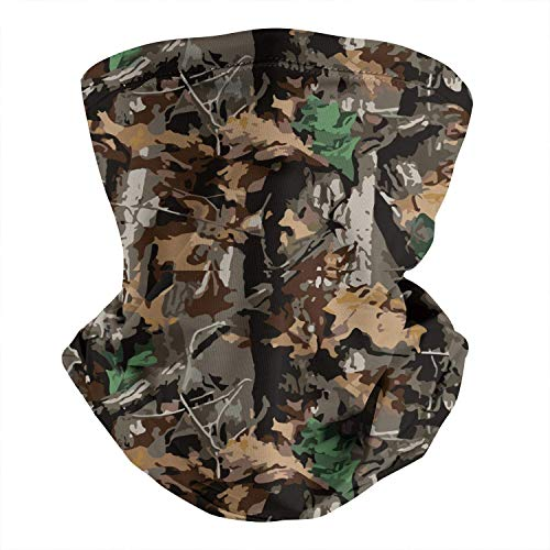 Camo Neck Gaiter Face Mask Bandana Balaclava Sun UV Protection Headwear for Sport Outdoor