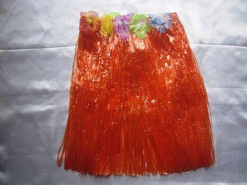 Oranje gras rok voor hawaii strand partij kip nacht 40cm