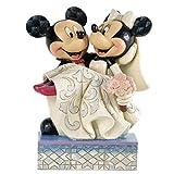 エネスコ disney ディズニー ミッキー ミニー ウエディング フィギュア 結婚式 木彫り風 【結婚祝い 結婚記念 ウエルカムドール】 [並行輸入品]