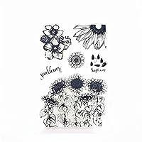 ひまわり畑透明クリアスタンプ/DIYスクラップブッキング用シリコンシールローラースタンプpoアルバム/カード作成