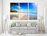 Decoración para el hogar Lienzo Playa Playa 3 Set HD Impresiones Estilo Tropical Pintura Cartel Arte de la Pared Cuadros Modulares Para Fondo De La Mesita De Noche