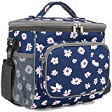 Insulated Reusable Lunch Bag Adult Large Lunch Box for Women and Men with Adjustable Shoulder...