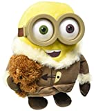 Bob minion nel villaggio di ghiaccio con cappotto e orsetto riproduzine perfetta del nuovo film della gamma minions alto 26 cm Adatto a partire dai 3 anni