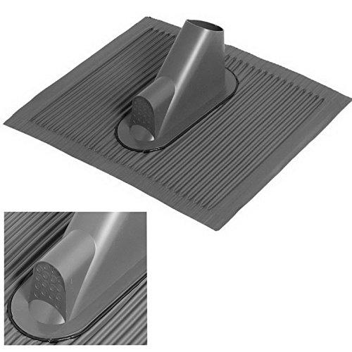 Aluminium - Dachziegel mit Kabeldurchführung für bis zu 16 Leitungen; schwarz; grosse Platte; anpassbar an jede Ziegelform; ...die Alternative zum Bleiziegel; schwermetallfrei, umweltfreundlich [Dachpfanne; Mastdurchführung; Dachabdeckung]