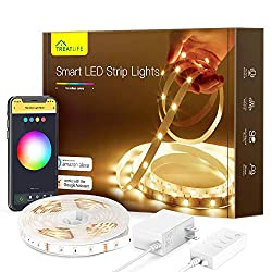 Treatlife Smart Led Strip Lights, 16.4ft Color Changing WiFi Rgb Led Lights TV Backlight, Compatible with Alexa, Google Assistant for Voice Control, for Bedroom, Kitchen, Party