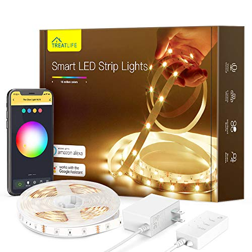 TREATLIFE Smart Led Strip Lights, 16.4ft Color Changing WiFi RGB Led Lights TV Backlight, Compatible with Alexa, Google Home for Voice Control, for Bedroom, Kitchen, Party