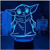 3Dイリュージョンナイトライト アニメキャラクター スマートタッチ 3Dランプオプティカル7色段階的に変化する子供用LEDライトスマートタッチベッドサイドランプベッドルーム男の子用ホームデコレーションクリスマスギフト
