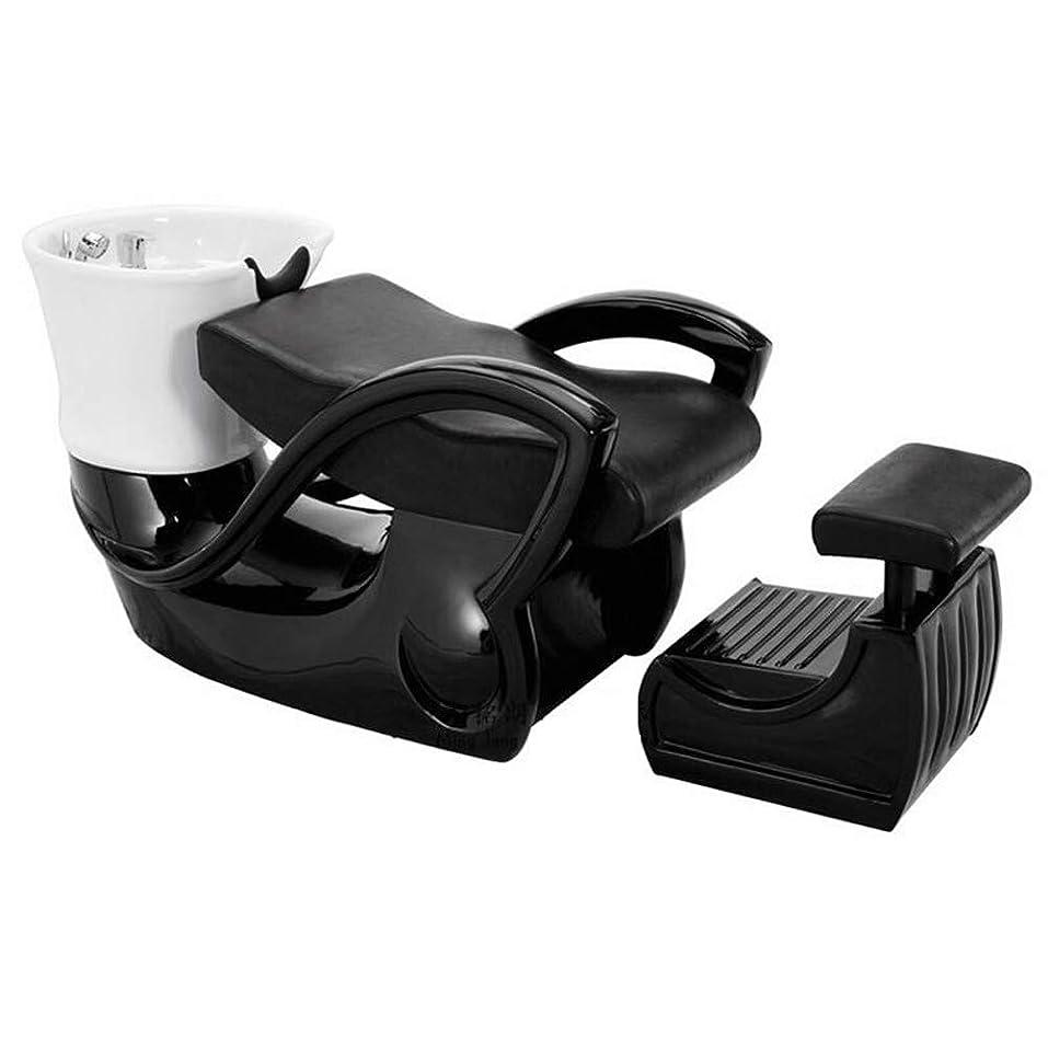 レコーダー注釈を付けるエーカーシャンプーの椅子、鉱泉の大広間装置の陶磁器の深い洗面器のシャンプーのベッドのための逆洗の単位のシャンプーボールの理髪の流しの椅子