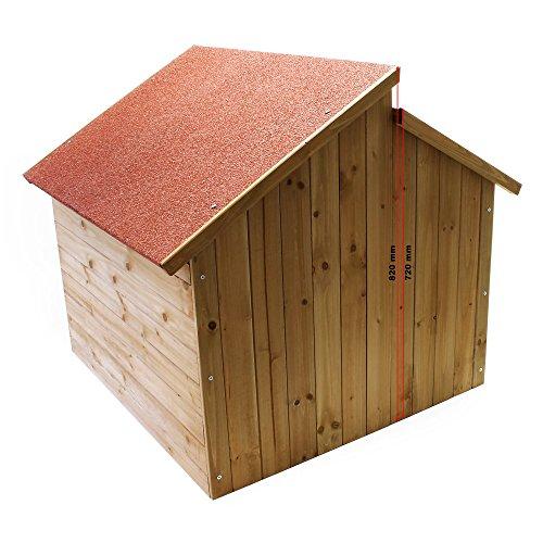 Wiltec Garage für Mährobotor aus Holz für alle gängigen Rasenroboter - 3