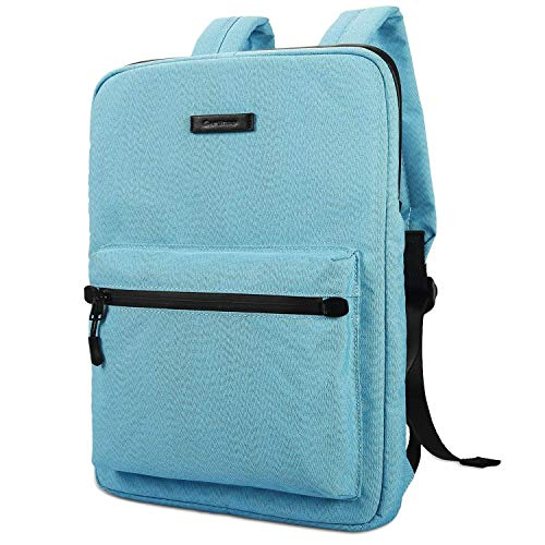 JINXIUCASE Canvas Lightweight Laptop Bag,Fashion Laptop Backpacks,13.3 14 15 inch Chromebook Laptop Bag for MacBook Touchbar 15 Pro (Color : Blue, Size : 13.3-15.4 inch)