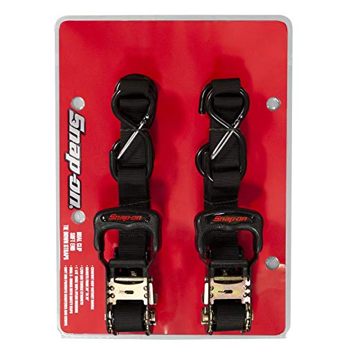 EK USA Snap-on 19544P-SNAP Snap On Ratchet Tie Down BLK (Pack of 2)