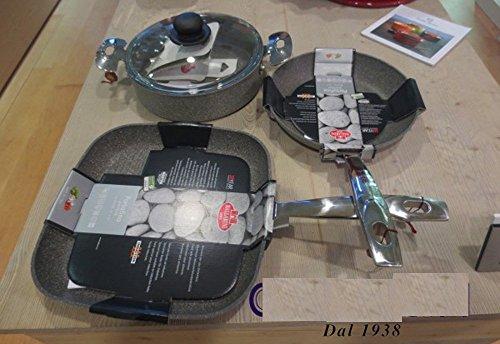 Set 3pieces Ballarini Portofino pan cm 24-casserole basse cm 28- grill cm 28