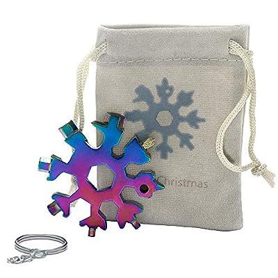 18-in-1 Snowflake Multi-Tool Screwdriver, Stainless Steel 18-1 Multitool Snow Tool,Best Christmas Gift for mens (Aurora)