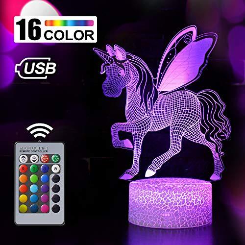 Regalo de Unicornio Luz de Noche para Niños