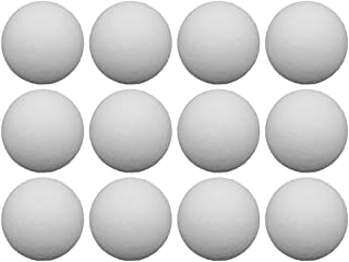 LIOOBO 12pcs Table Soccer Balls Replacement Balls Tabletop Game Balls Table Plastic Accessories(White/36mm)