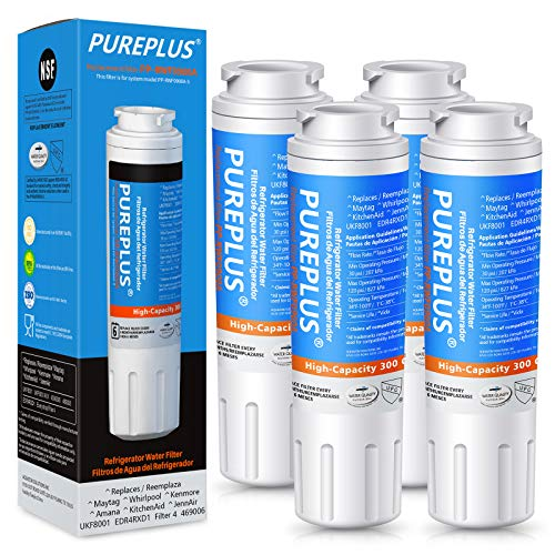 PUREPLUS UKF8001 Refrigerator Water Filter Replacement for Maytag UKF8001P, EDR4RXD1, Everydrop Filter 4, PUR 4396395, Puriclean II, UKF8001AXX-200, UKF8001AXX-750, RWF0900A, RFC0900A, 469006, 4Pack