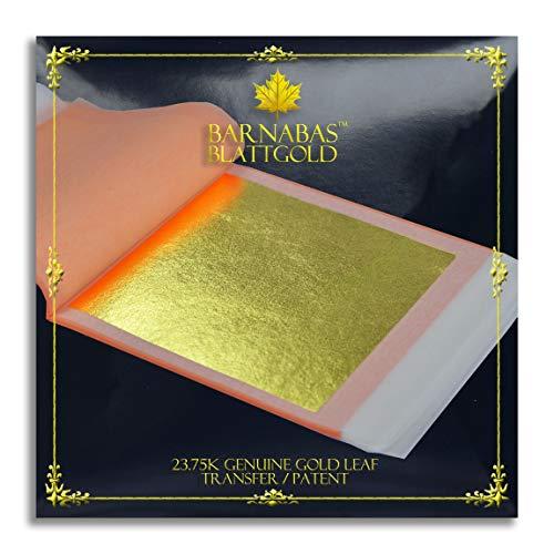 Barnabas Echtes Blattgold Transfer 23.75 Karat, 85 X 85mm, 25 Blätter in Blattsammlung