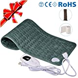 """Bernuly Electric Heating Pad, 12""""x24"""" Super Soft Material Fast-Heating for Neck Shoulder"""