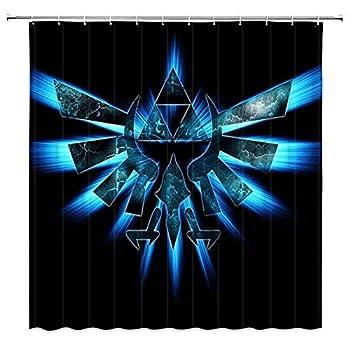 Custom The Legend of Zelda Shower Curtain Bathroom Curtain with 12 Hooks 60x72 Inch