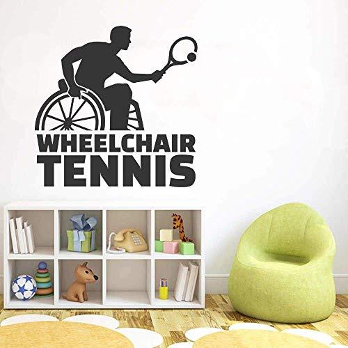 Pegatina De Pared Para Jugador De Tenis En Silla De Ruedas,...