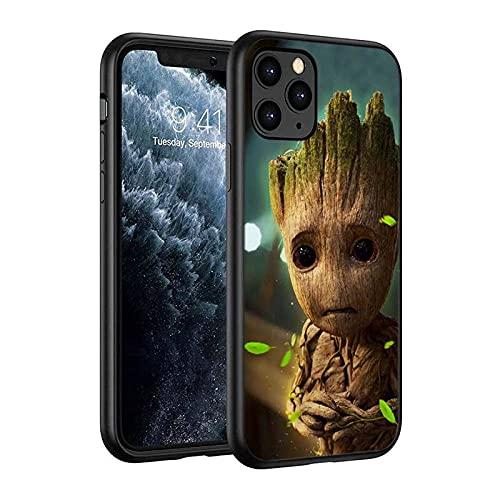 Groot Funda de silicona La funda del teléfono móvil Funda protectora, compatible con todos los iPhones, protección integral, estructura de 3 capas-Anime_4_iPhone_7/8Plus