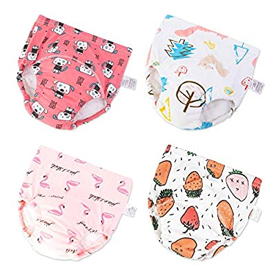 Baby Cotton Training Pants Toddler Kids Potty Training Underwear 4 Pack (Girls, 4T)
