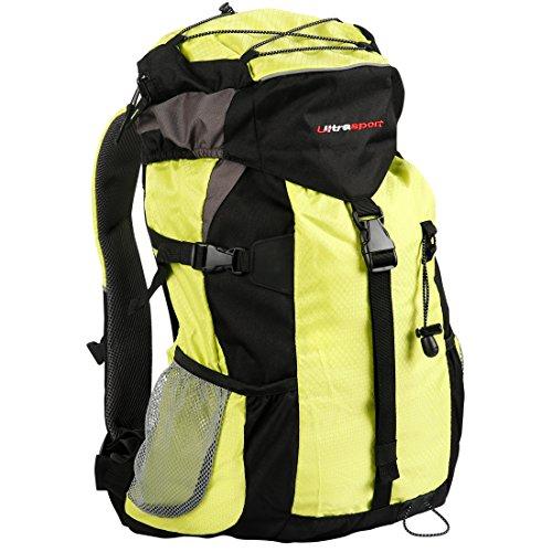Ultrasport outdoor- en trekkingrugzak incl. regenhoes, outdoor rugzak voor kamperen, wandelen, kamperen, backpacker, rugzak voor mannen en vrouwen, ultralicht, 25 liter volume, waterdicht