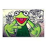 LIPENGYU Leinwanddruck Street Graffiti Art Frosch