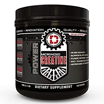Driven Nutrition-Micronized Creatine 500gm Unflavored Gluten Free Soy Free Keto Friendly