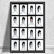 David Bowie Black White Music Band Singer Star Pintura al óleo Poster Wall Art Picture Canvas Prints Living Home Room Decor - haozi3272 50x70cm