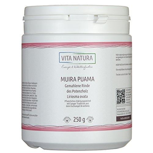 Vita Natura Muira Puama, Potenzholz, 1er Pack (1 x 250 g)