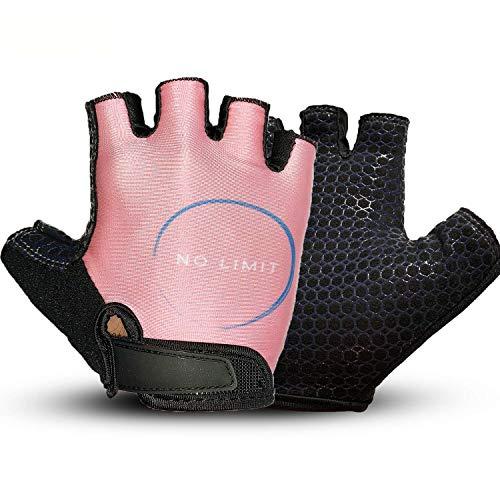 NoLimit® Fitness Handschuhe, Trainingshandschuhe, Fahrradhandschuhe, Crossfit Handschuhe für Damen und Herren m. Handflächen-Schutz, Silikon-Grip, atmungsaktiv mit Beutel für Dein Workout