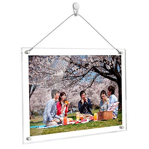 Lapeno A4 Bilderrahmen 29.7 x 21 cm, 3mm+3mm Tabletop Desktop Fotorahmen Display Rahmen für die Dekoration von Dokumenten mit Zertifikatgrafiken aus klarem Acryl