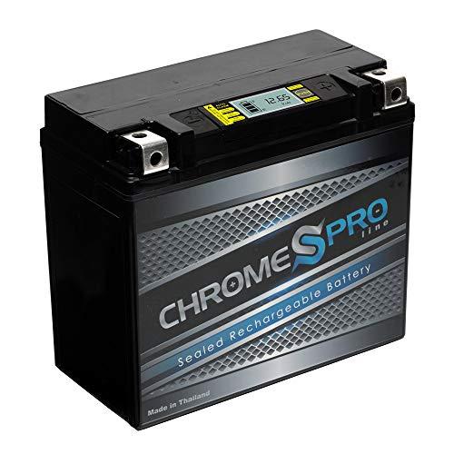Chrome Pro Battery YTX20HL-BS iGel High Performance Power Sports Battery