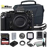 Nikon Df DSLR Camera (Body Only, Black) (1525) USA Model + Camera Bag + SanDisk 64GB Extreme PRO Memory Card + Wireless Remote Shutter Release + Hand Strap + Portable LED Video Light + More