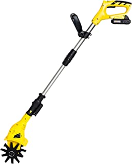 QILIN Cordless Cultivator, 20V Ripper with Lithium Battery and Charger, Safety Double Switch, Height Adjustable, Suitable ...