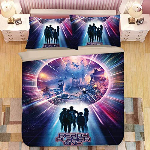 HDBUJ Gamer Movie Cover Bedding Set, Soft Polyester Duvet Cover, Two Pillowcases, Stylish And Individual 135X200Cm