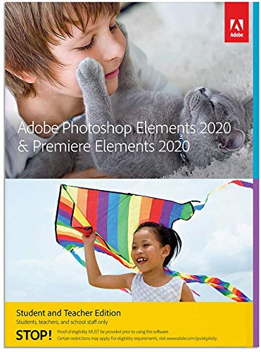 Photoshop Elements 2020 & Premiere Elements 2020 Student and Teacher | PC | Code d'activation PC - envoi par email