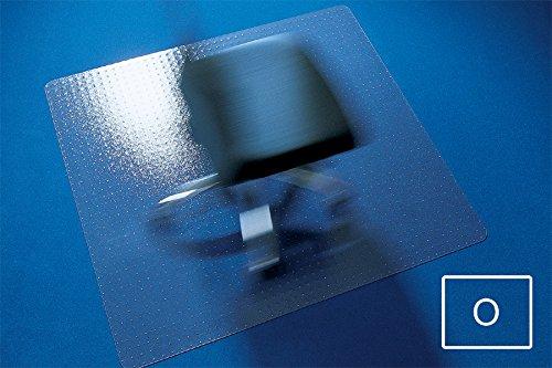Transparente Bodenschutzmatte, 120 x 130 cm, aus Makrolon®, Schutzmatte mit Noppen für Teppichböden, 17 weitere Größen und Formen wählbar