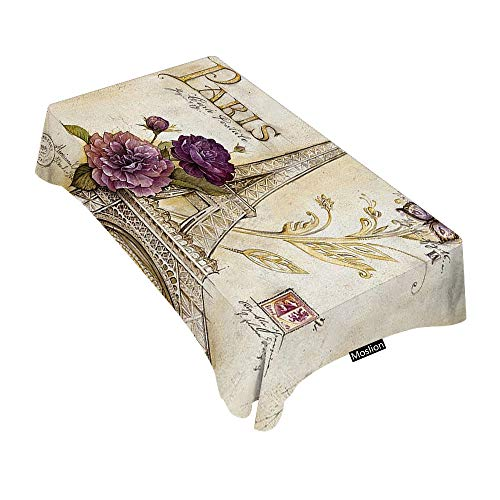 Manteles rectangulares decorativos de estilo vintage con diseño de mapa del mundo antiguo, 52 x 70 pulgadas