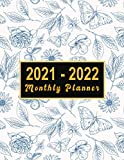 2021-2022 Monthly Planner: large see it bigger 2-year plan | Schedule Organizer - Agenda Plans For The Next Two Years, 24 Months Calendar with ... 2021 to Dec 2022 ) Flower Design for women