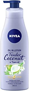 Nivea Oil-In-Lotion Tender Coconut & Tiare Oil Body Lotion, 200 ml