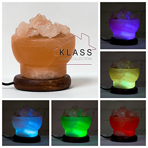 Himalaya Natuurlijke Rock Zout LED Multi Kleur USB Lamp Klass Home Collection®.